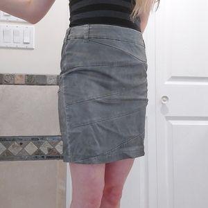 Vintage gray bandaged mini skirt